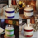 Resonance Candles Set Of 4 - 4 Assorted Medium Jars Value Pack For Natural Fragrances- Ideal For Gifting- Amazing Fragrances For Christmas And New Year Decoration- Pack Of 4