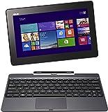 Asus Transformer Book T100TA 25.65 cm (10.1 Zoll) Convertible Tablet PC (Intel Atom Quadcore Z3740 1,3GHz, 2GB RAM, 64GB HDD, Intel HD, Windows 8 Touchscreen) grau