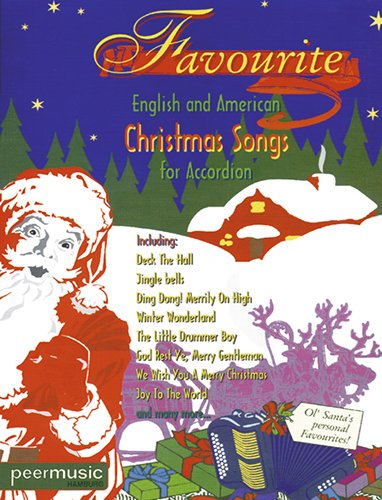 Favourite English and American Christmas Songs for Accordion - Weihnachtslieder (Noten)