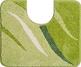 Grund Badteppich 100% Polyacryl, ultra soft, rutschfest, ÖKO-TEX-zertifiziert, 5 Jahre Garantie, WINGS, WC-Vorlage m.A. 50x60 cm, grün