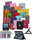 ** BIG DISCOUNT SALE ** Apple iPad Pro (2015) Tablet 360° Rotating Swivel Executive PU Leather Folio Case Stand Cover with Retractable Stylus Touch Pen - Black ** CHRISTMAS BARGAINS **