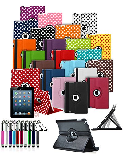 Coupon Matrix - ** BIG DISCOUNT SALE ** Apple iPad Mini 4 (2015) Tablet 360° Rotating Swivel Executive PU Leather Folio Case Stand Cover with Retractable Stylus Touch Pen - Dark Purple ** CHRISTMAS BARGAINS **