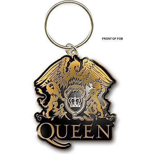 Queen Dorado Escudo Llavero Ro