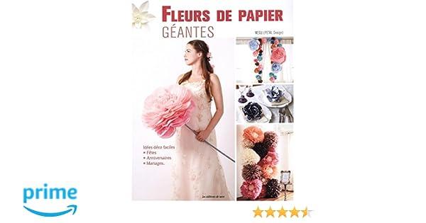 Amazon Fr Fleurs De Papier Geantes Noriko Hachimonji Megu