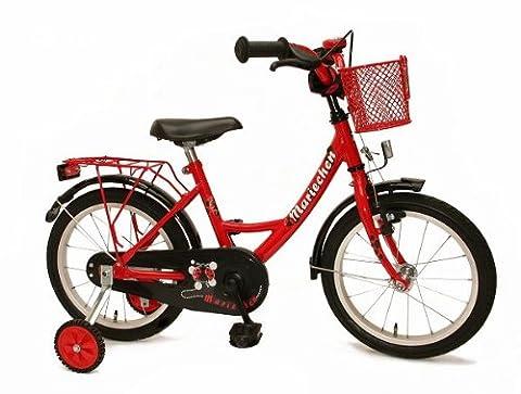 Bachtenkirch Kinder Fahrrad Mariechen, rot/schwarz, 16 Zoll, 1300432-MA-76