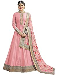 Gopinath Collections Designer Pink Silk Embroidery Work With Diamond Work