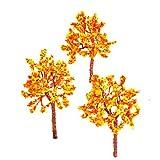 10PCS Modèles Arbres Fleurs Oranges Train Paysage Echelle OO HO 1:75 -1:100