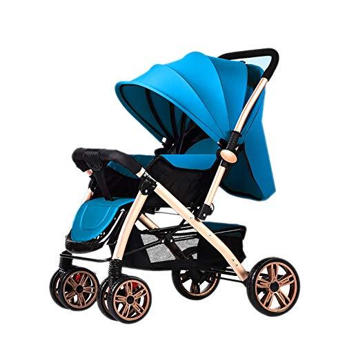 Guo@ Baby Poussette Pliante légère Landau 0/1-3 Ans Chariot Enfant Simple Portable (Couleur : Bleu)