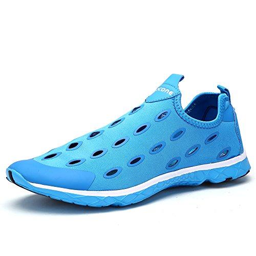 L'Eau Chaussures aleader Chaussures de marche à enfiler pour femme Bleu - bleu