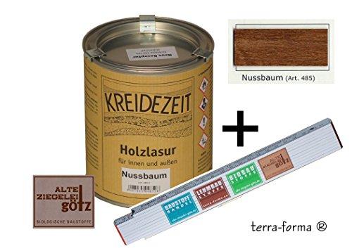 Holzlasur für innen und außen 0,75 l farbig (ebenholz): amazon.de ...