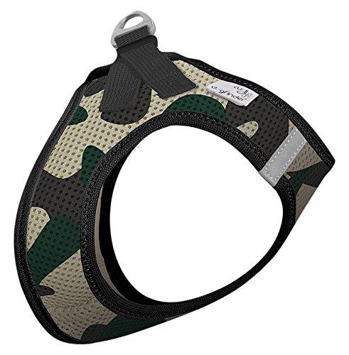 CURLI Brustgeschirr Plush Vest AIR-MESH camouflage für Hunde XL (53 - 58cm)