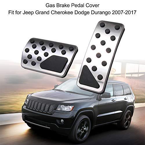 L&U Copri pastiglie Freno a Pedale Antiscivolo Senza Frizione Antiscivolo per Jeep Grand Cherokee Dodge Durango 2007-2017