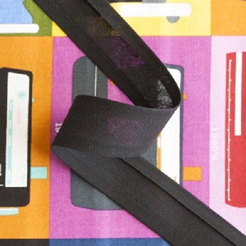 25mm 1Inch sbieco Trim nero 10m rotolo di buona qualità aperto Fold nastro