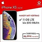 Apple iPhone XS (Silber) 256GB Speicher Handy mit Vertrag (Vodafone Smart XL) 11GB Datenvolumen 24 Monate Mindestlaufzeit