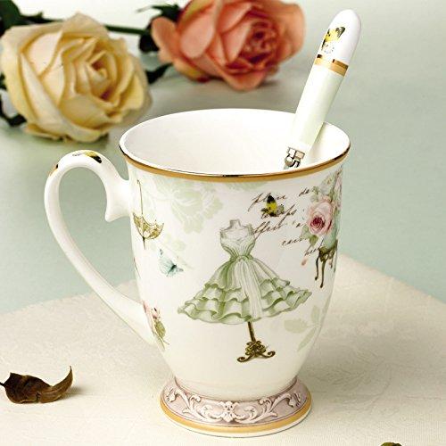 Beddingleer Geschenk-Tasse Kaffee-Tasse Becher Kätzchen Kaffee Tasse Tee Tasse Kaffeetasse Grüner...