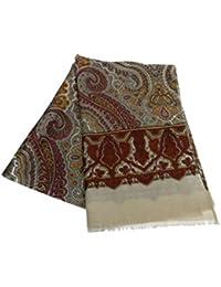 Avantgarde Sciarpa uomo lana wool elegante dis cashmere paisley sciarpe made  in italy colore beige Cashmere fbe4f682f8cd