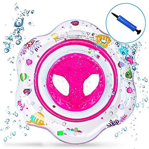Intime ciambella gonfiabile neonato, salvagente mutandina bambini piscina galleggiante 1 e 4 anni giochi giocattolo salvagente gonfiabile per bambini (rosa)
