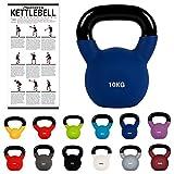 Kettlebell Neopren 2 – 30 kg inkl. Übungsposter Kugelhantel