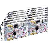 TopShot Lot de 12 appareils photo jetables I mog di pour 27 photos avec flash (Blanc)