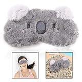 LHKJ Karikatur Schlafmaske,Weiche Plüsch Augenmaske mit Tier Motiv für Reisen Geschenk