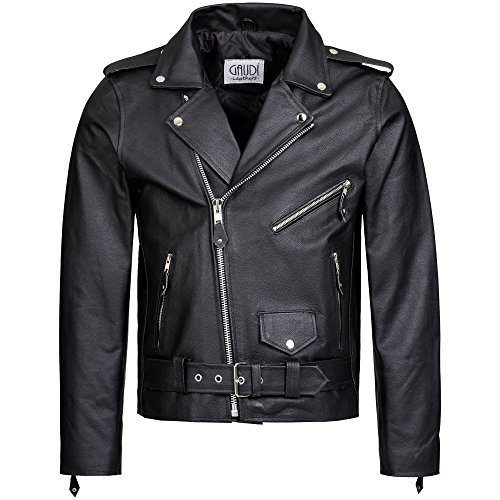 Gaudi-Leathers Motociclista Giacca in pelle Biker Moto style Uomo XL