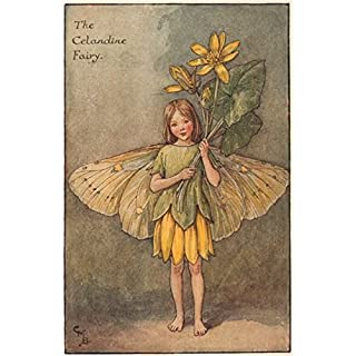 Celandine Fairy by Cicely Mary Barker. Spring Flower Fairies - c1935 - old antique vintage print - art picture prints of Flower Fairies