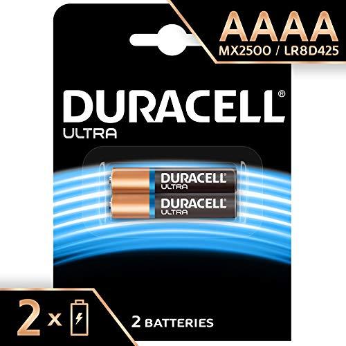 Duracell Batterie Specialistiche Alcaline AAAA da 1.5 V, Confezione da 2, LR8D425, Progettate per Essere Usate in Penne Digitali, Dispositivi Medici e Lampade Frontali