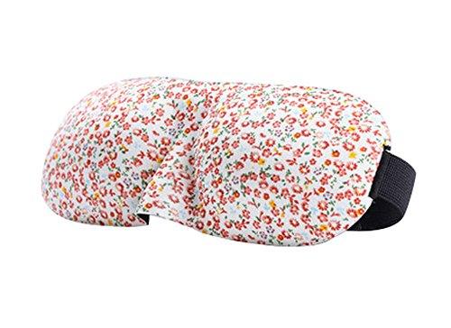 Ensemble de 2 Double soie cache oeil/cache oeil pour dormir, Florale