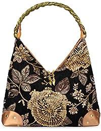 ec4c3abeeec44 Baglamor 2018 Frühling Blume Stickerei Tasche Retro Stil Tasche Perle  Bestickte Handtasche Einzelner Schulterbeutel Weiblichen…