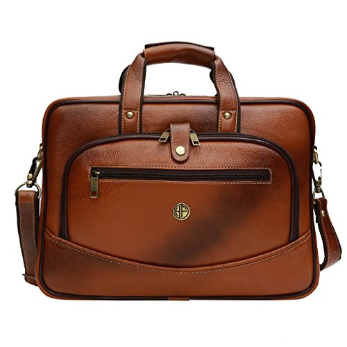 Hammonds Flycatcher Leather 20 Ltrs Tan Briefcase