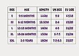 MiniFeet Premium Weiche Leder Babyschuhe, Grau Trainer 12-18 Monate Bild 4