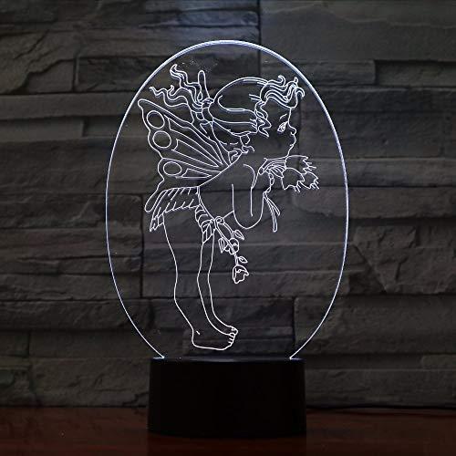 Gwgdjk Amor Liebhaber Geschenk 3D Led Licht Schreibtisch Tisch Halloween Dekoration Geschenk Kind Abschlussfeier Usb 7 Farben Ändern Lava Lampe