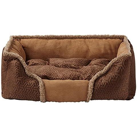 Panier pour animal domestique pour chats et chiens de petite taille doux et chaud en polaire lavable à fourrure Coussin chaud de luxe 'Sleep Tight Nest'