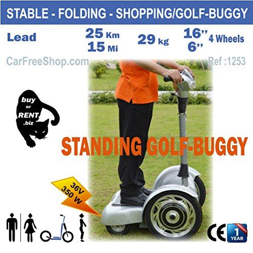carfreeshop 1253golf-buggy-Roller–stabile, 4Räder, Smart, Segway, wie golf-trolley verwendet, großen Auswahl 36löcher, Schutzblech, mühelos, Exclusive, praktisch