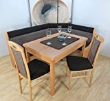 Truheneckbankgruppe massiv mocca creme beige Eckbank Eckbankgruppe Tisch Stühle