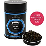 Hallingers Loser Schwarz-Tee aus Darjeeling, FTGFOP1, 1st Flush (100g) - Gute Laune (Premiumdose) - ideal als Geschenk