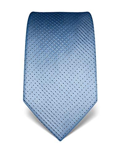 Vincenzo Boretti Herren Krawatte reine Seide gepunktet edel Männer-Design zum Hemd mit Anzug für Business Hochzeit 8 cm schmal/breit hellblau