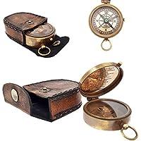 The New Antique Store Brújula de bolsillo, latón, con dial flotante