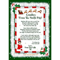 Accessory For Elf On The Shelf, Goodbye, Letter Christmas Gift