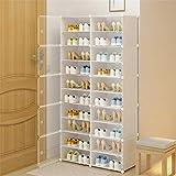 Plegable del gabinete de zapatos Inicio de gran capacidad a prueba de polvo puerta ahorrar espacio plástico económico de muchas capas del zapato Gabinete de almacenamiento simple caja de zapatos Estan
