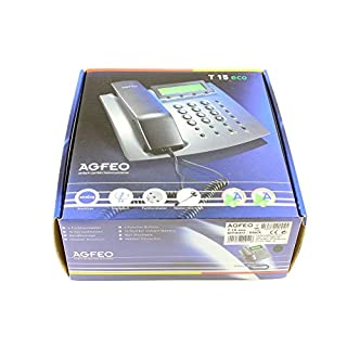 Agfeo comfort phone T15 eco with CLIP, black without Netzteil, for Agfeo AS Anlagen ab