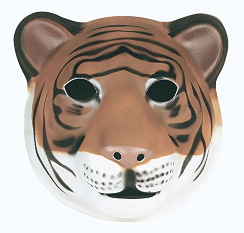 Wild Republic 63131 - Maske für Kinder und Erwachsene,Tiger, 21 x 19 (Tiger Maske Kunststoff)