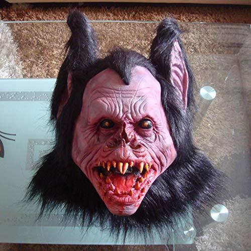 Maske Deluxe Terror Tier Maske Löwen, Tiger, Tintenfische, Orang-Utans, Affen, Schweine, Wölfe Kopf Latex Spielzeug-Kopf-Maske Für Lustige Halloween-Kostüm-Accessoires,C