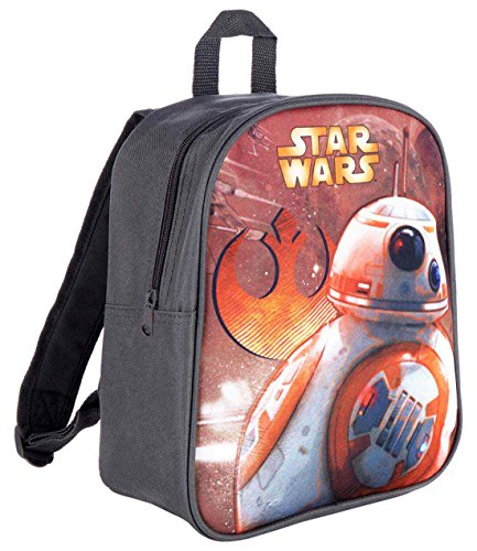 Sac à dos enfant garçon Star wars BB-8 Gris/orange 28cm