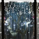 Wapel Addobbi Natale Negozi Il Layout Della Finestra Snow Wall Stickers