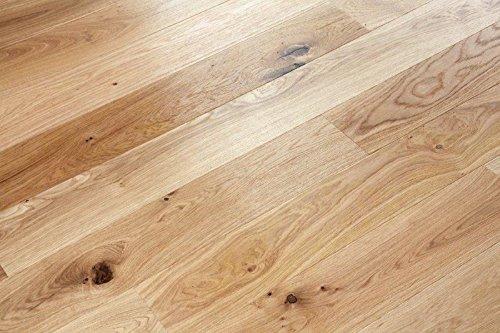woodstore Handel Società woodo Lubmin-papq1271457Parquet europea Rovere 14X 127X 1085mm oliato UV, Spazzolato (0,83m²/pacchetto), Chiaro, One size