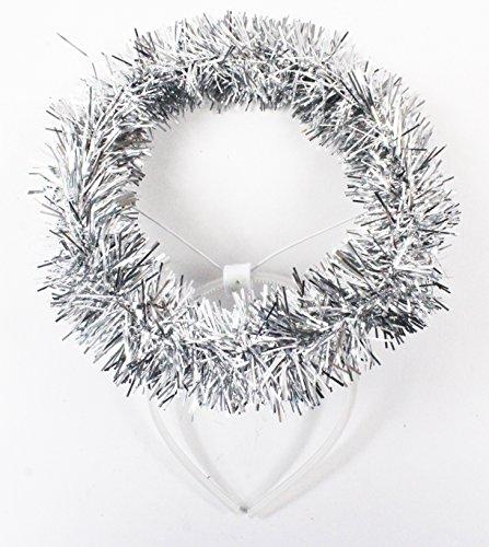 Silber Lametta Engel Halo Stirnband Weihnachten Kids Kinder, -