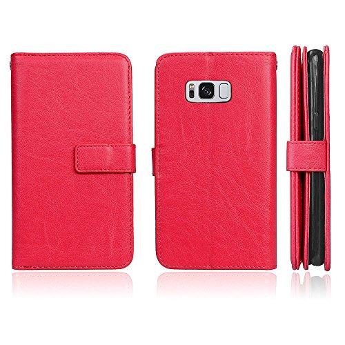Funda Samsung Galaxy S8, Ecoway [9 ranuras para tarjetas]Serie retro Cuero de la Scrub PU Leather Cubierta, Función de Soporte Billetera con Tapa para Tarjetas Soporte para Teléfono para Samsung Galaxy S8- B-3