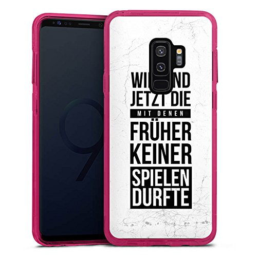 DeinDesign Samsung Galaxy S9 Plus Bumper Hülle transparent pink Bumper Case Schutzhülle Humor Fun Sayings