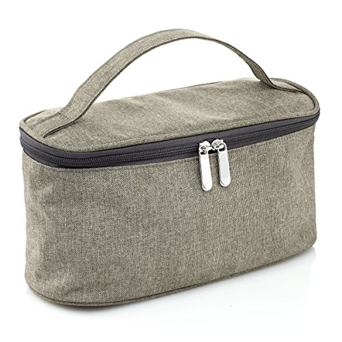 1698672de263 Le Sac Large Cosmetic Bag with Mirror Travel Toiletry Bag Organizer ...
